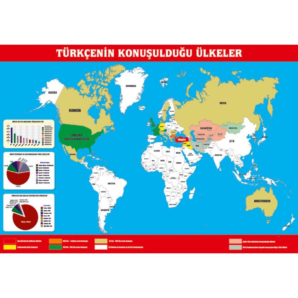 dünyada türkçe konuşulan yerler ile ilgili görsel sonucu