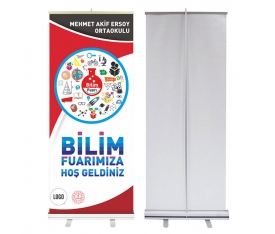 Bilim Fuarı 85x200 cm Roll Up Banner 2