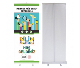 Bilim Fuarı 85x200 cm Roll Up Banner 3
