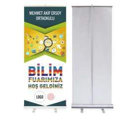 Bilim Fuarı 85x200 cm Roll Up Banner 4