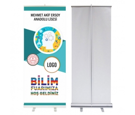 Bilim Fuarı 85x200 cm Roll Up Banner 5