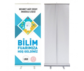 Bilim Fuarı 85x200 cm Roll Up Banner 6