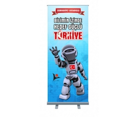 Bilimin İzinde 85x200 cm Roll Up Banner