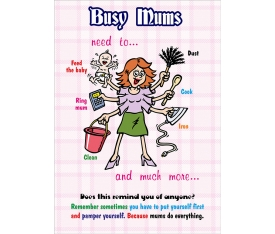 Busy Mums Poster
